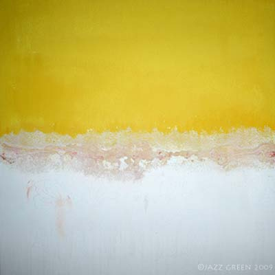 abstract painting - starting with primed canvas
