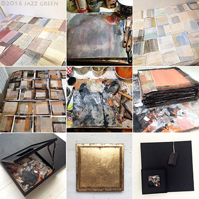 100-squares-paintings-in-progress-art-studio-montage
