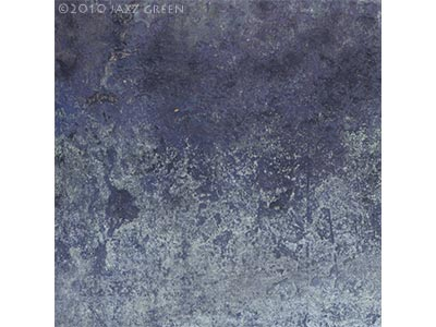 blue textured, eroded surface abstract painting, winter - edgescape 26 by jazz green artist