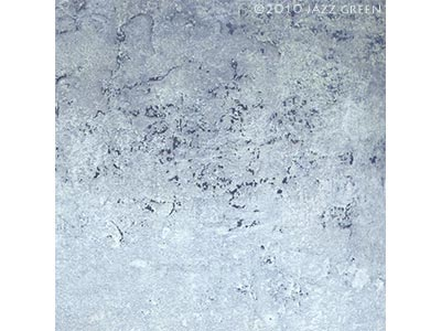 blue abstract painting  - wall erosion decay, winter - edgescape 26 by jazz green artist