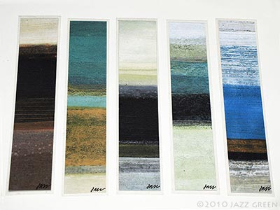 Coastal Art BOOKMARKS - abstract designs prints sea shore beach