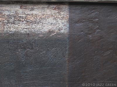 abstract painting - surface textures, brown, grey, stone