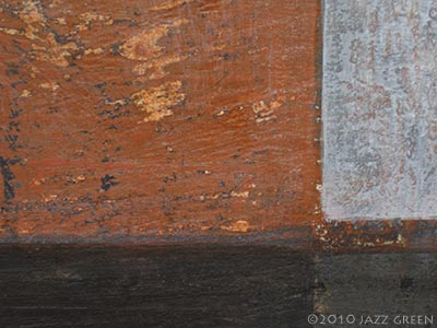 abstract painting - rough surface textures - rural industrial environment