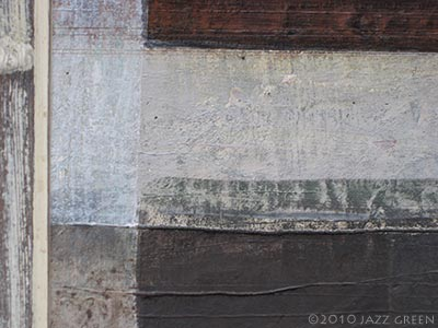 abstract painting textures - chalky, bluish white, greeny-grey, earthy brown