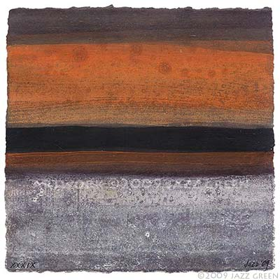 abstract textural painting - brown, burnt orange, stone ash grey colours - for sale on Etsy.com