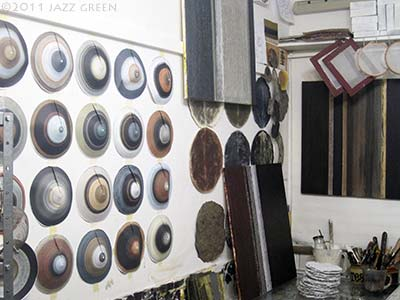art studio wall - cones - circles