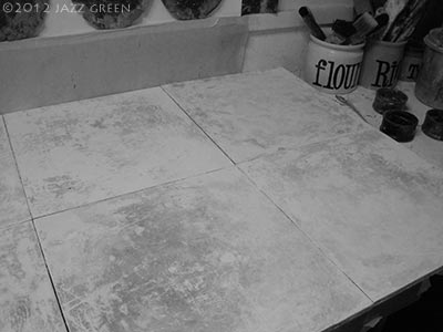 traditional gesso on panel - artist studio - works in progress