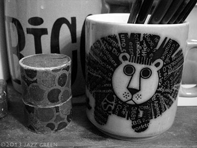 artist studio mug shot