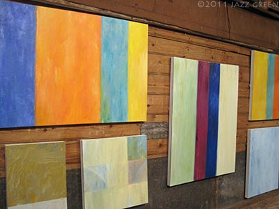 anthony jones, abstract paintings exhibition, blackthorpe suffolk