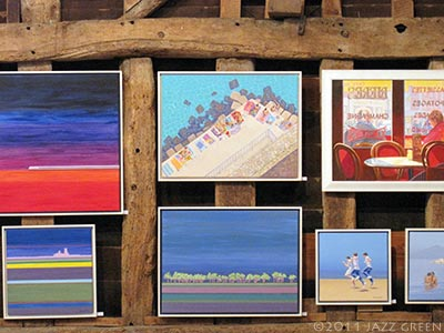 roger gamble paintings exhibition, blackthorpe suffolk