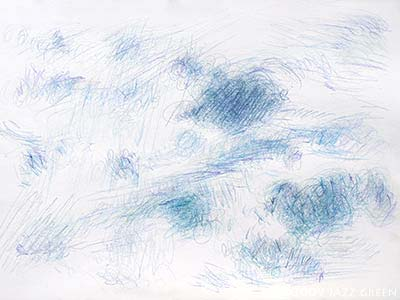 sketchbook studies - clouds - pencil on paper
