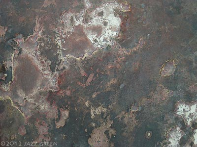 abstract painting - brown decay