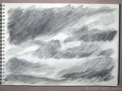 another study of clouds - a sketch