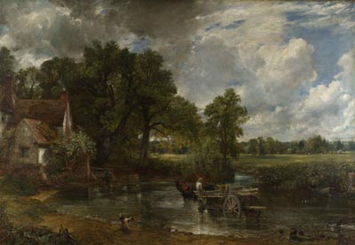 constable, hay wain, painting, national gallery, london