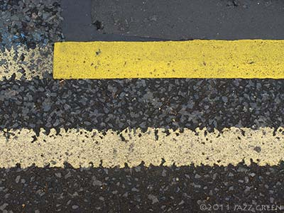 more double yellow lines - line paintings seen on the road