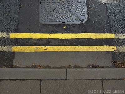 double yellow lines roadworks - abstract paintings