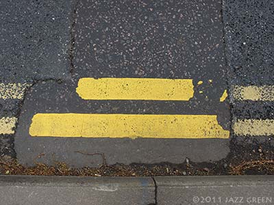 double yellow lines - painting abstract art