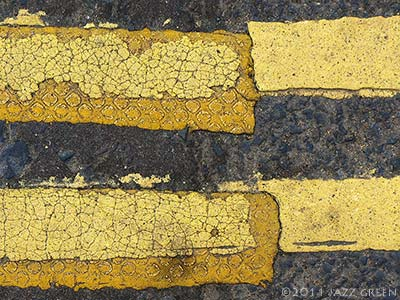 double yellow lines textures - tarmac -abstract painting