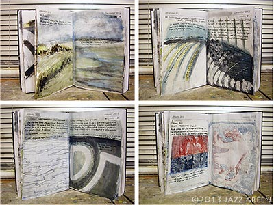 sketchbook diary paintings