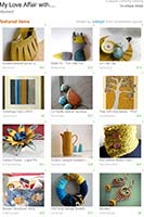 etsy treasury - mustard yellow