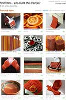 etsy treasury - burnt orange