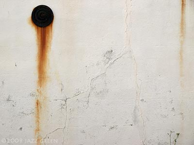 rust on wall - abstract painting