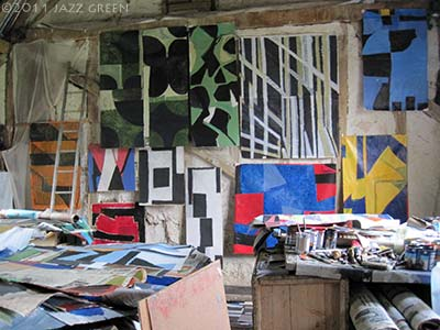 frank beanland paintings studio