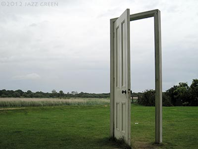 gavin turk, door sculpture, snape maltings