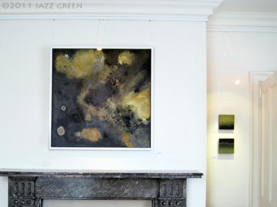 lichenscape painting by artist jazz green - harleston gallery norfolk 2011