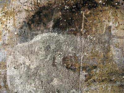 abstract gesso textures, paintings