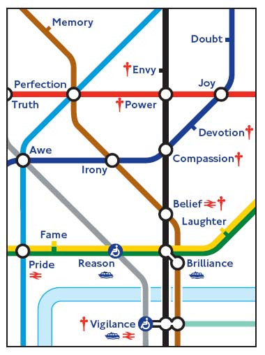 arbara kruger - london tube map commission 2010