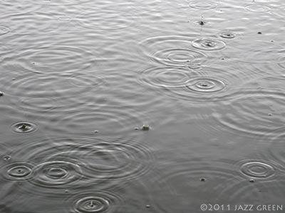 lake water rain - rain, more concentric circles