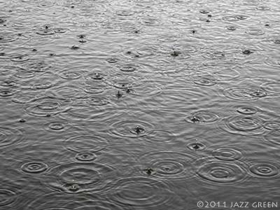 lake water surface - pattern of rain