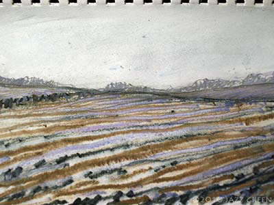 landscape-sketch-ploughed-field-striations