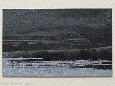 small landscape painting, winter, suffolk