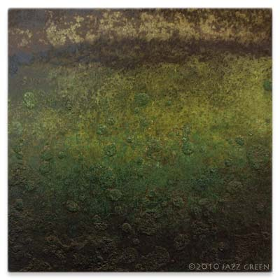 green algae moss mould painting on wood