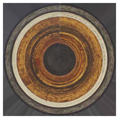 prairie - concentric circles - abstract print