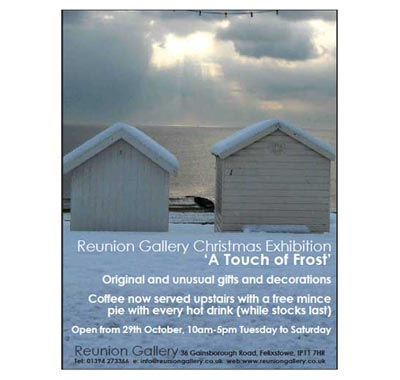 reunion gallery, christmas art exhibition