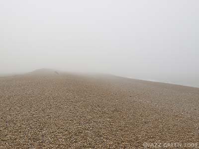 salthouse beach in mist
