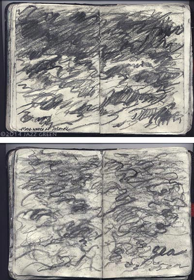 sea waves drawings