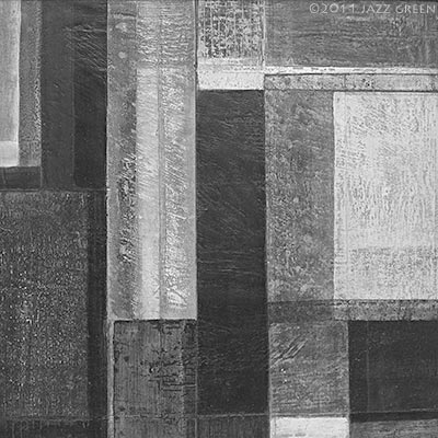 shades of grey, abstract painting on wood
