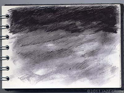 sketchbook drawings - dark skies