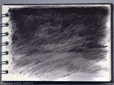 sketchbook drawings - night sky