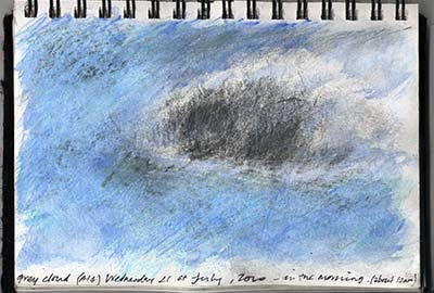 sketchbook drawing - sketch of a cloud