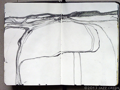 summer sketchbook - fields landscapes