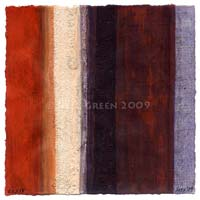 art for sale - new abstract paintings on paper - rustic wabi sabi, violet red colour