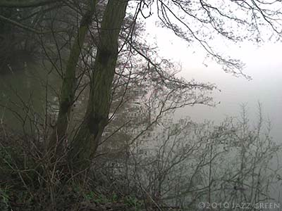 suffolk mist winter day lake photograph