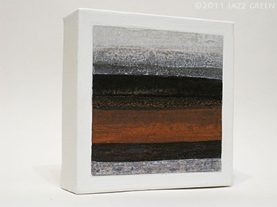 textures stripes square abstract painting - red, black, grey white striations