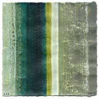 striped abstract on paper  - green and grey