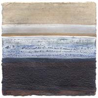textured rustic painting - grey blue white textures